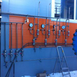 Монтаж трубопроводов азотной станции ОАО Таткабель 2015